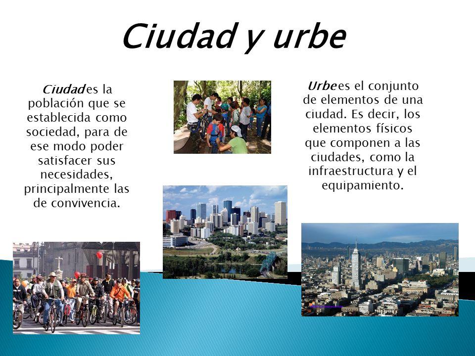 Ciudad y urbe