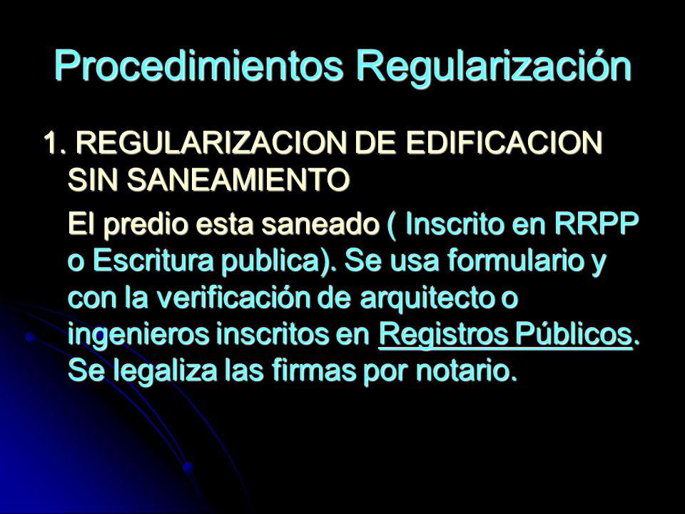 Procedimientos Regularización