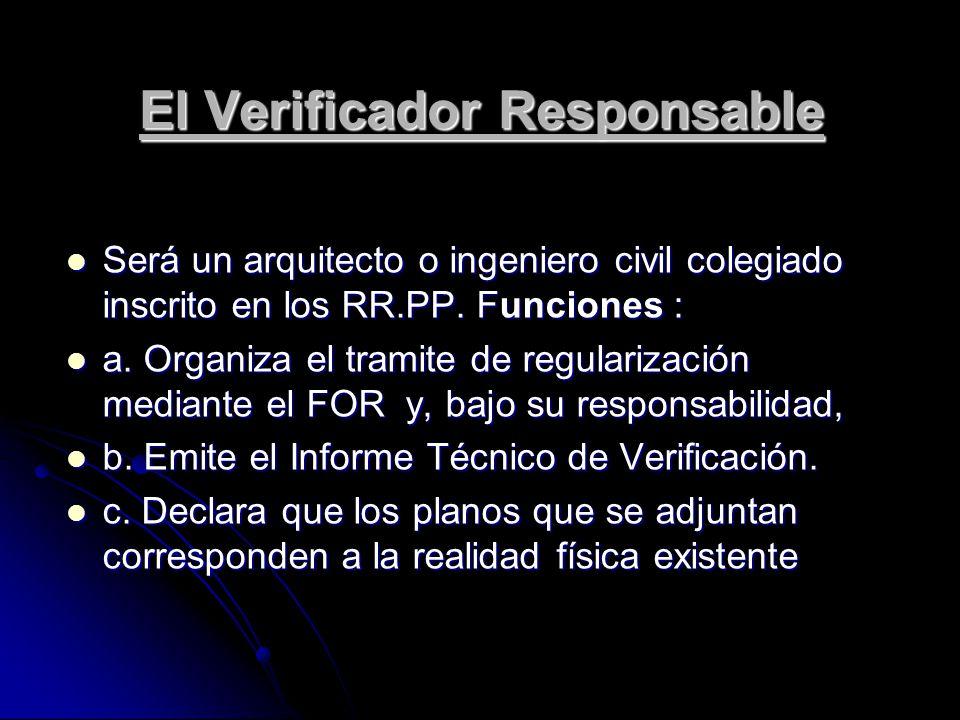El Verificador Responsable