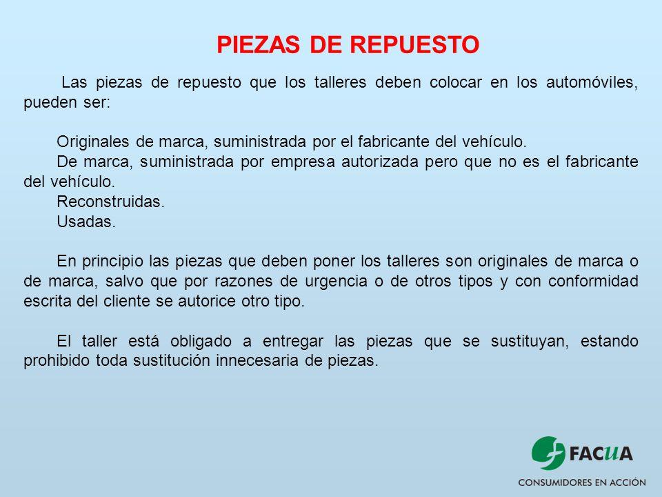 Talleres de reparaci n ppt video online descargar for Piezas de repuesto