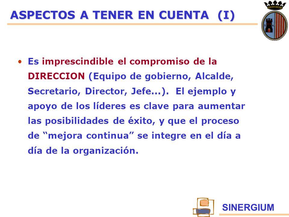 ASPECTOS A TENER EN CUENTA (I)