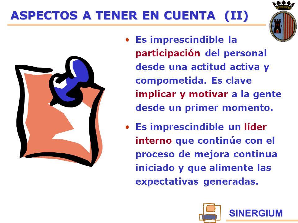 ASPECTOS A TENER EN CUENTA (II)