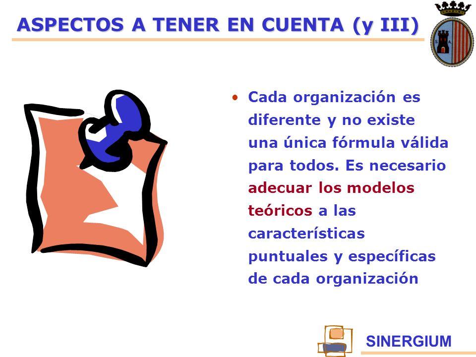 ASPECTOS A TENER EN CUENTA (y III)