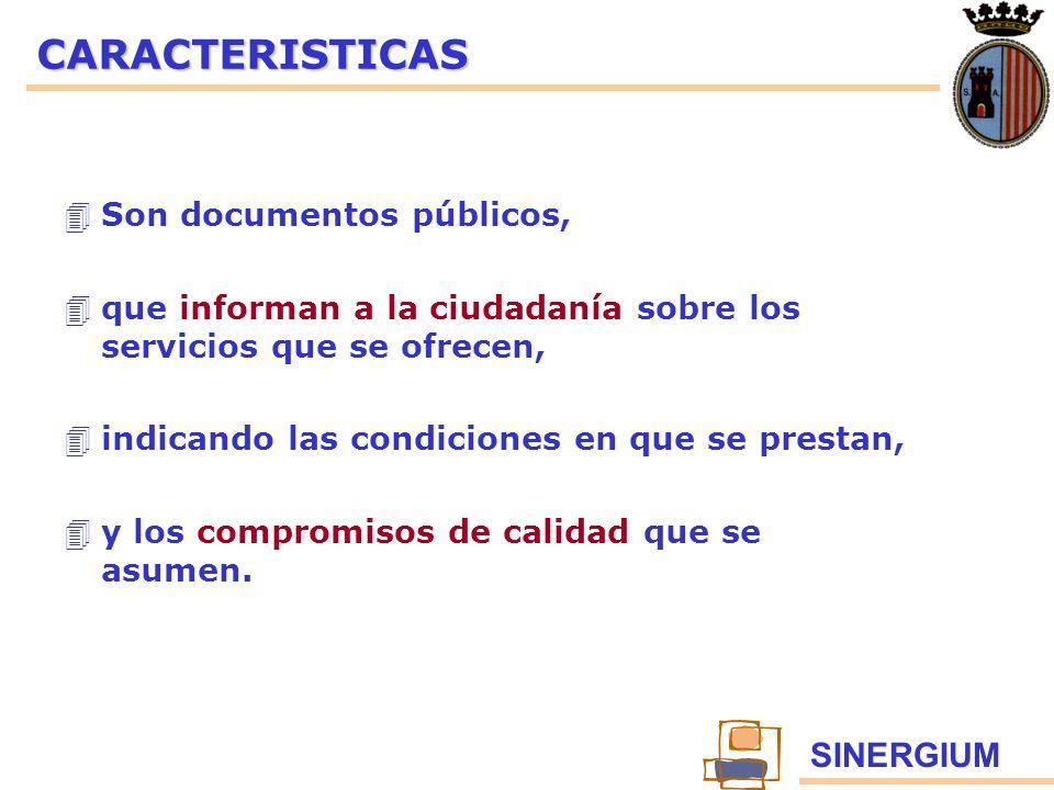 CARACTERISTICAS Son documentos públicos,