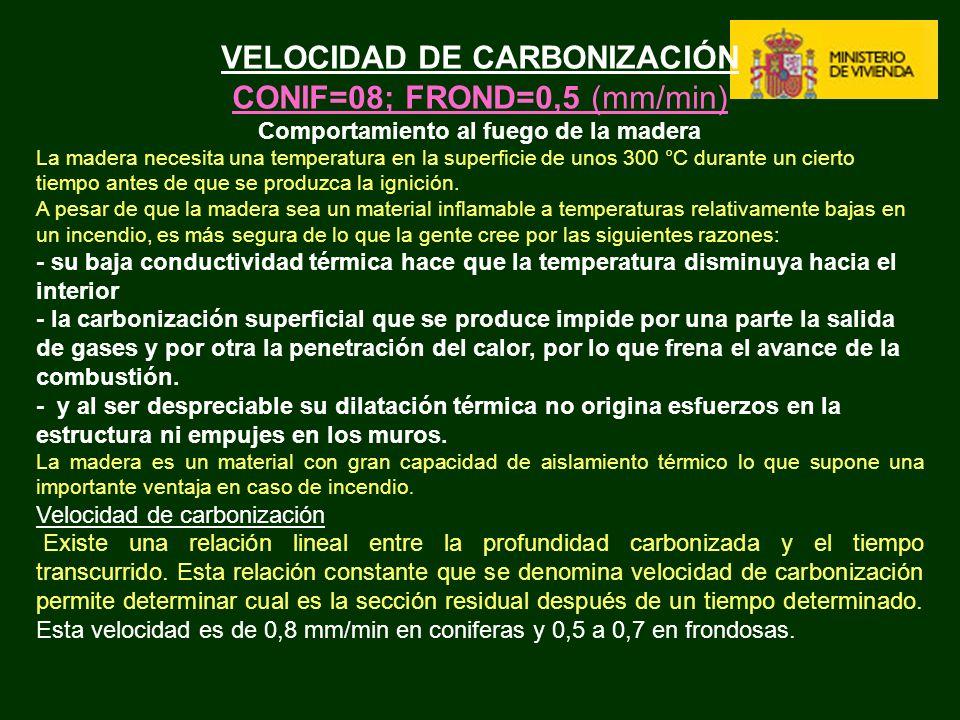 VELOCIDAD DE CARBONIZACIÓN