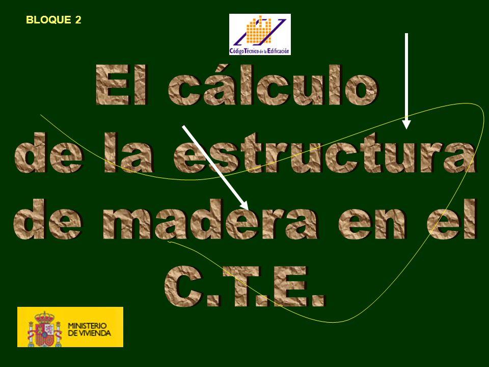 BLOQUE 2 El cálculo de la estructura de madera en el C.T.E.