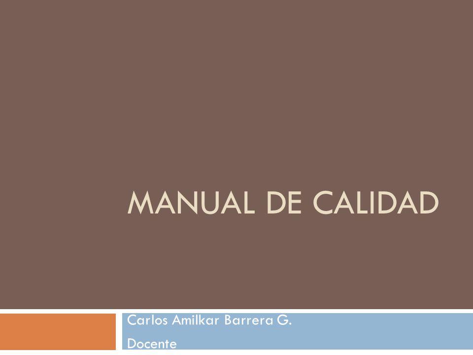 Carlos Amilkar Barrera G. Docente