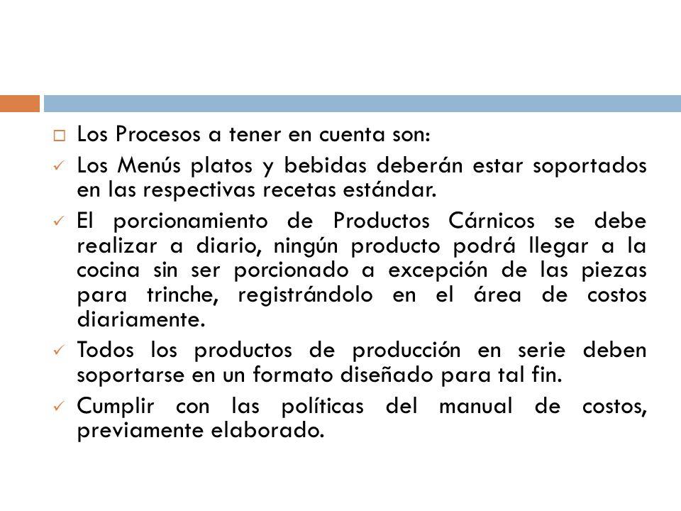 Carlos amilkar barrera g docente ppt descargar for Manual de procedimientos de alimentos y bebidas de un hotel