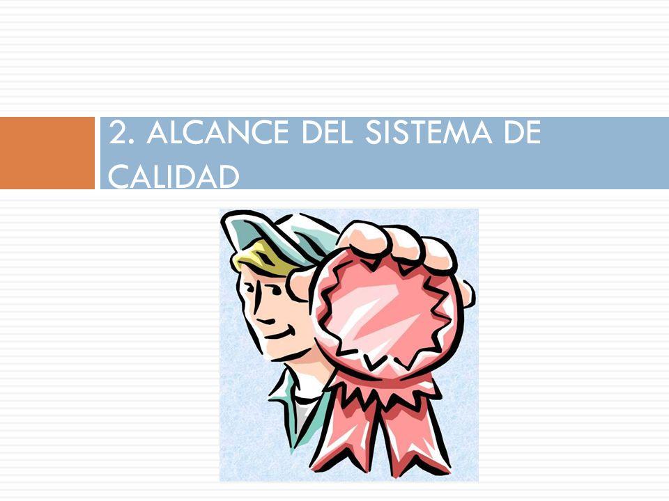 2. ALCANCE DEL SISTEMA DE CALIDAD