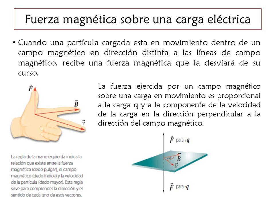 Resultado de imagen de Dirección de la fuerza magnetica de las partículas
