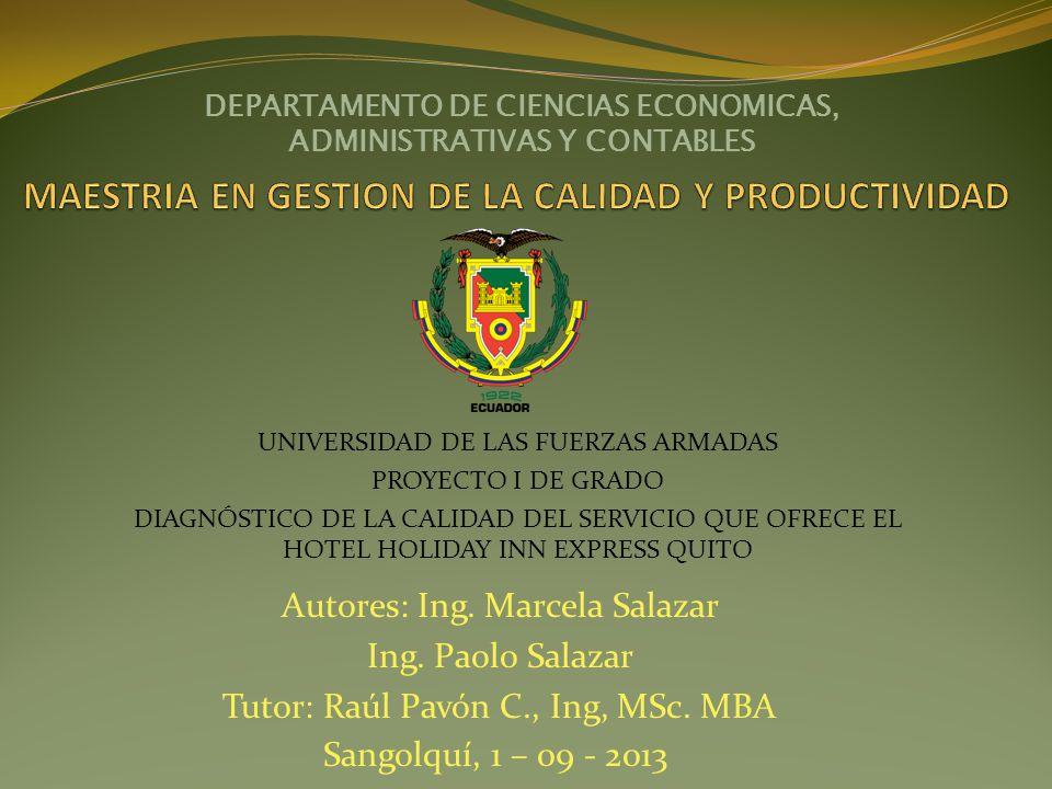 MAESTRIA EN GESTION DE LA CALIDAD Y PRODUCTIVIDAD