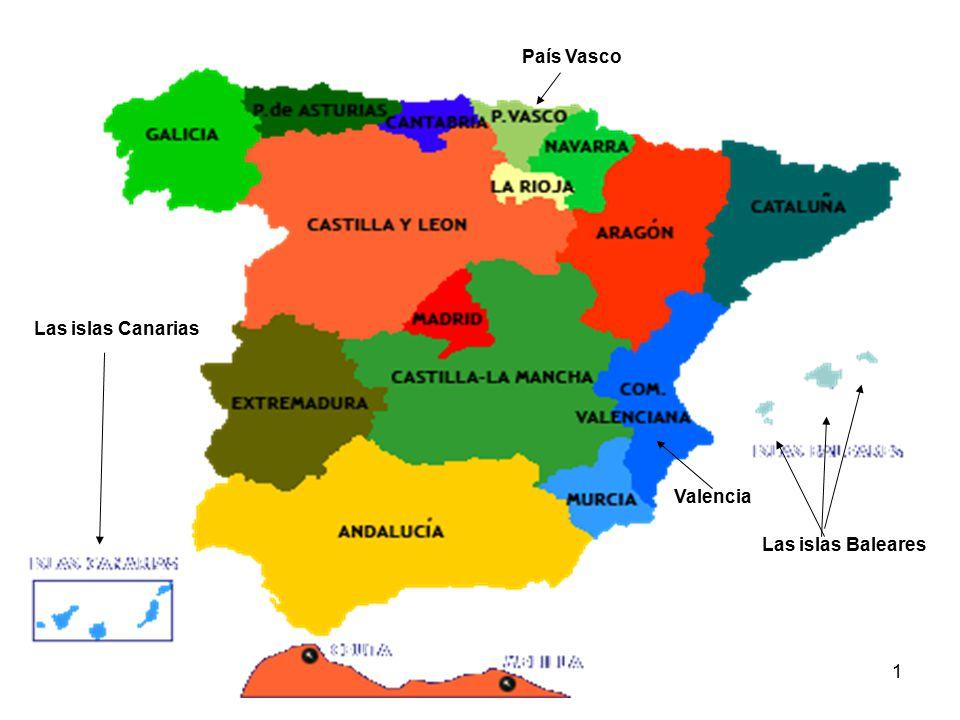 Pa s vasco las islas canarias valencia las islas baleares - Baleares y canarias ...