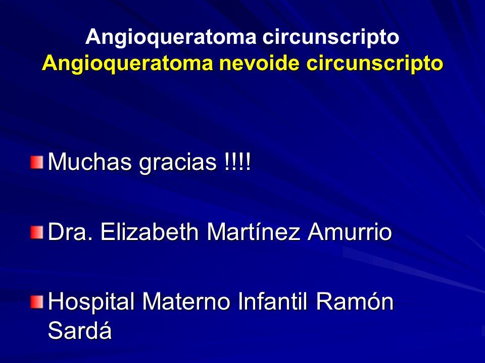 Angioqueratoma circunscripto Angioqueratoma nevoide circunscripto