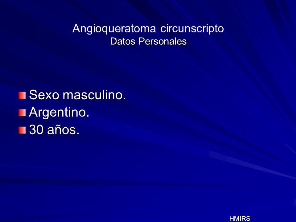 Angioqueratoma circunscripto Datos Personales