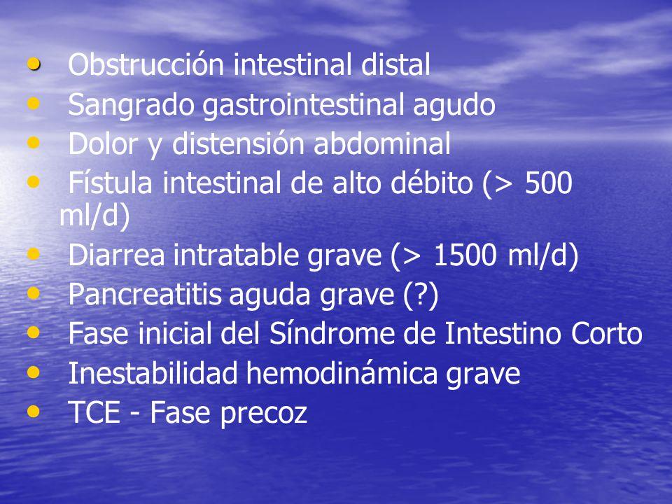 Obstrucción intestinal distal