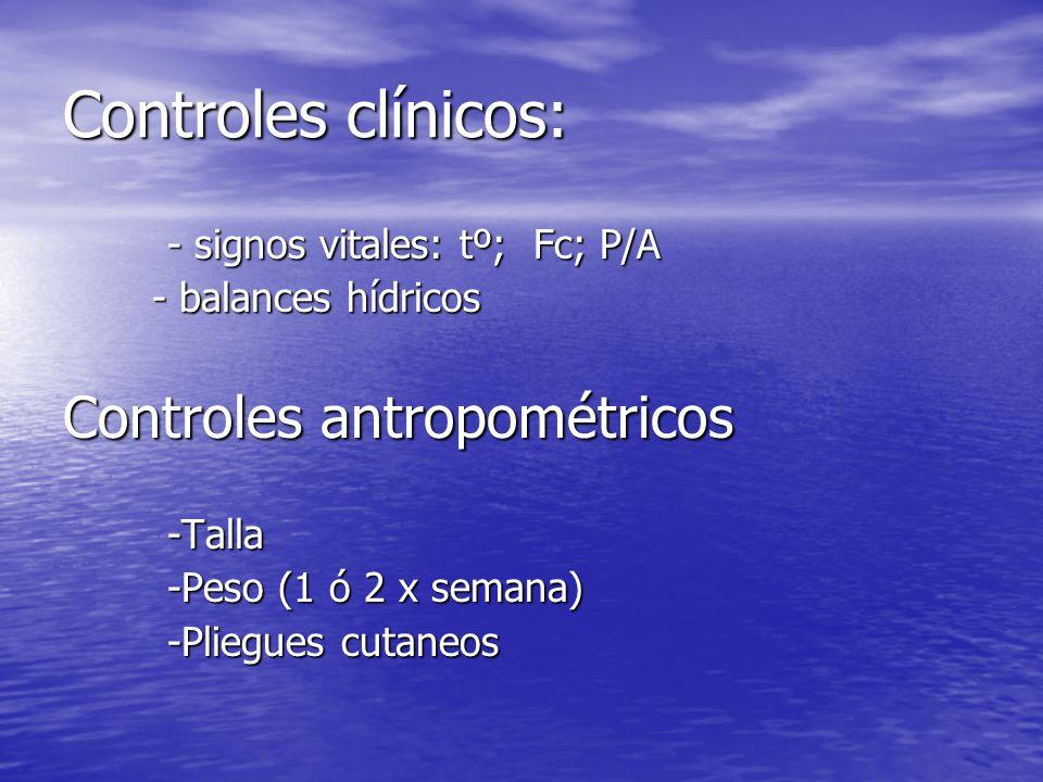 Controles clínicos: Controles antropométricos