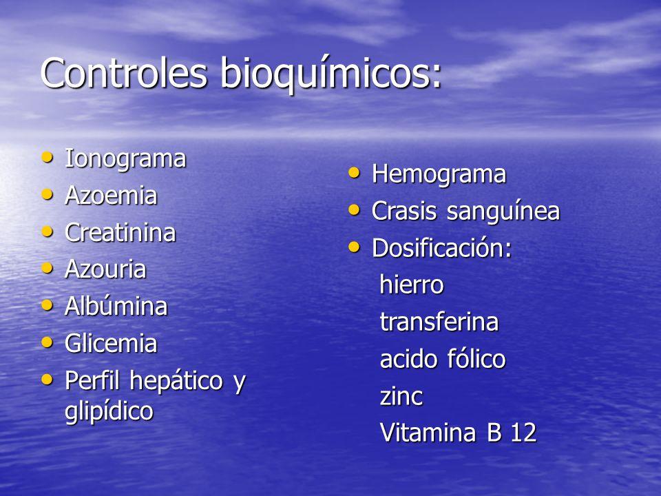 Controles bioquímicos: