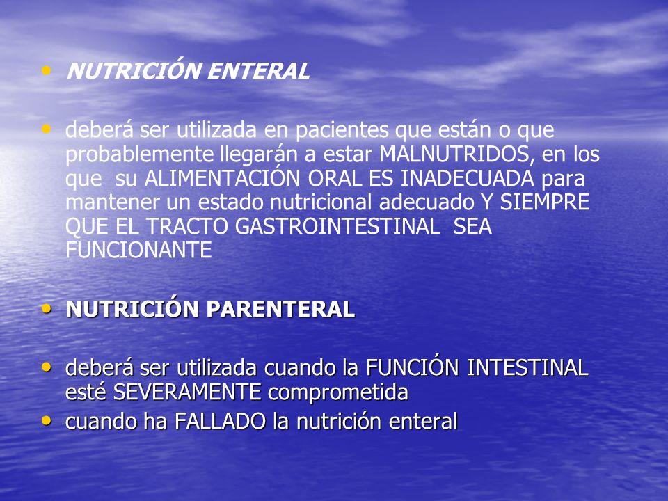 NUTRICIÓN ENTERAL