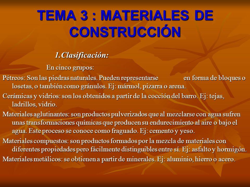 Tema 3 materiales de construcci n ppt descargar for Materiales de construccion marmol