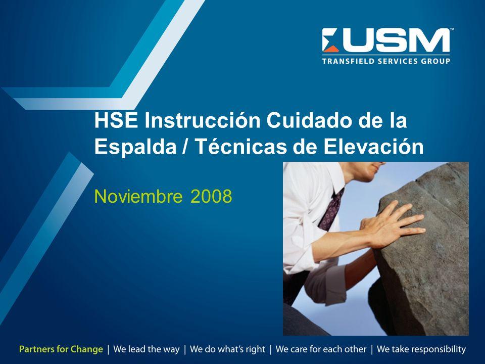 HSE Instrucción Cuidado de la Espalda / Técnicas de Elevación
