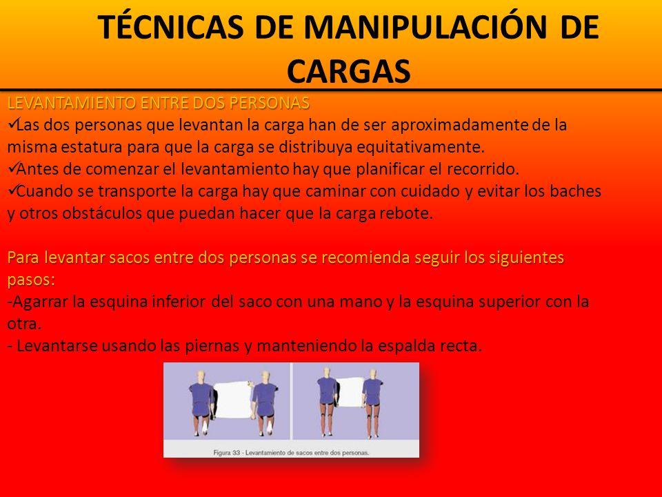 TÉCNICAS DE MANIPULACIÓN DE CARGAS