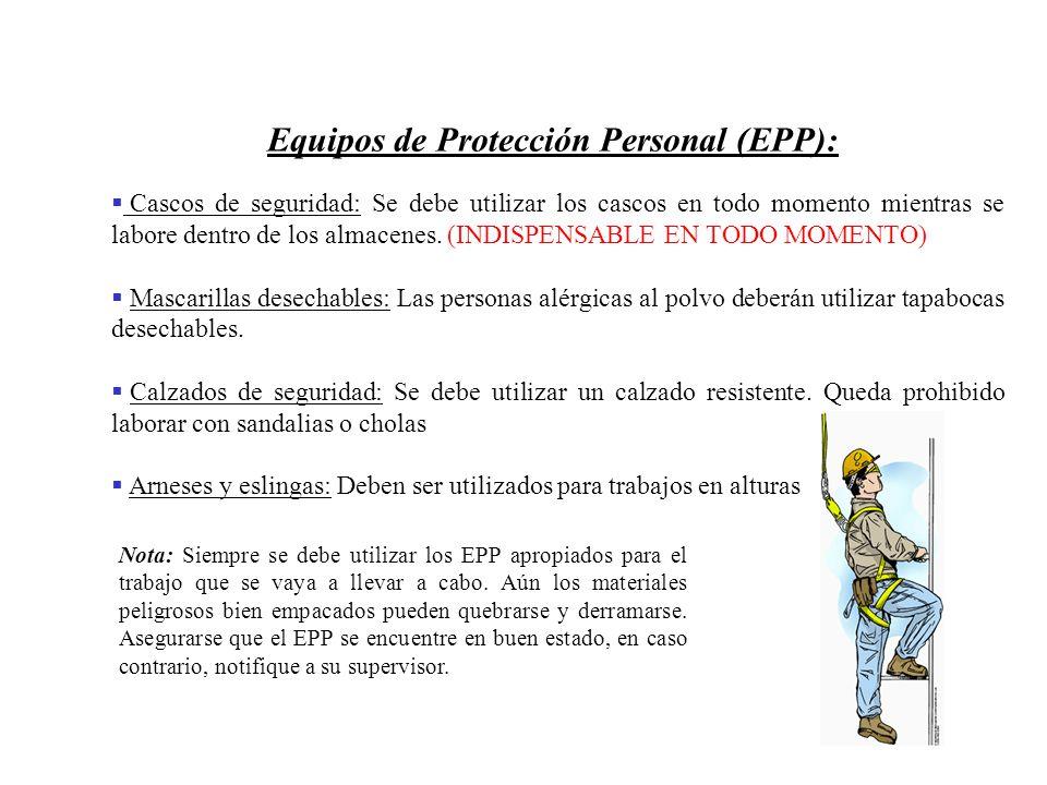 Equipos de Protección Personal (EPP):