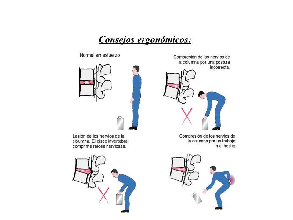 Consejos ergonómicos: