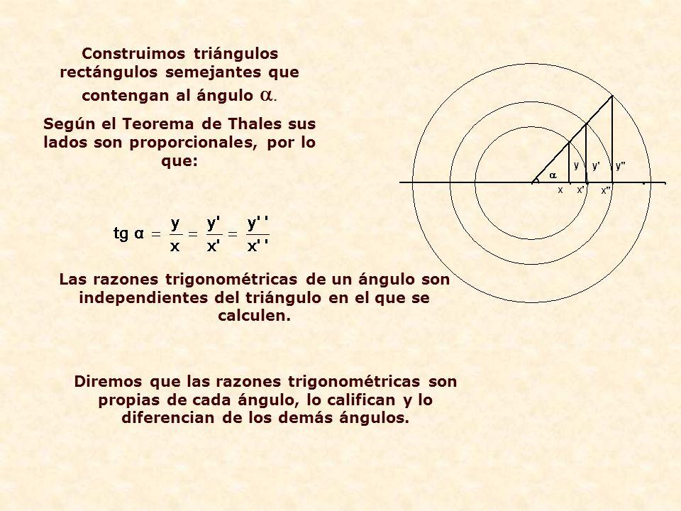 Según el Teorema de Thales sus lados son proporcionales, por lo que: