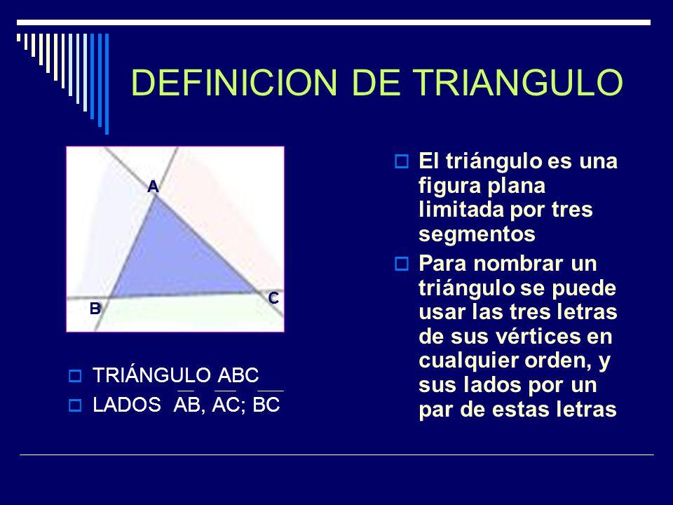 DEFINICION DE TRIANGULO