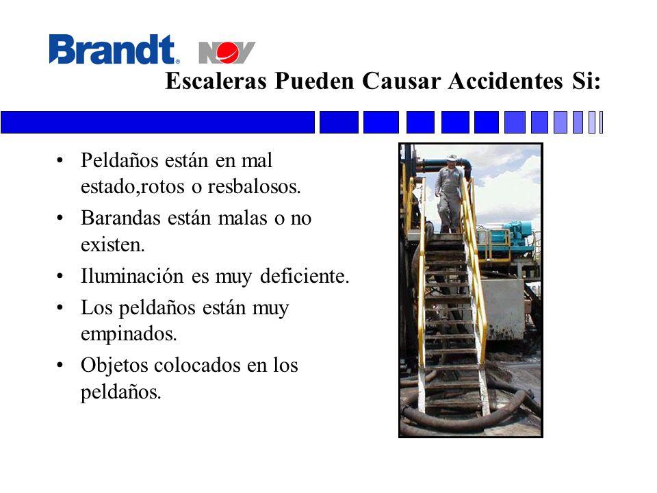 Escaleras Pueden Causar Accidentes Si: