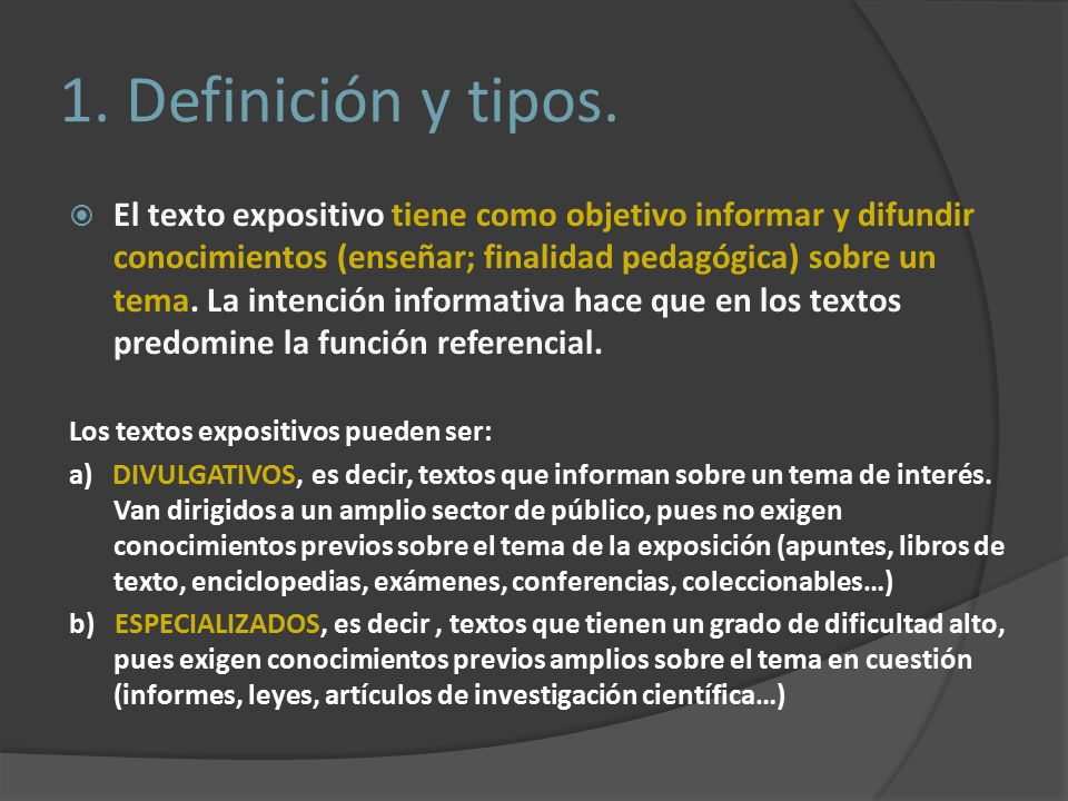 1. Definición y tipos.