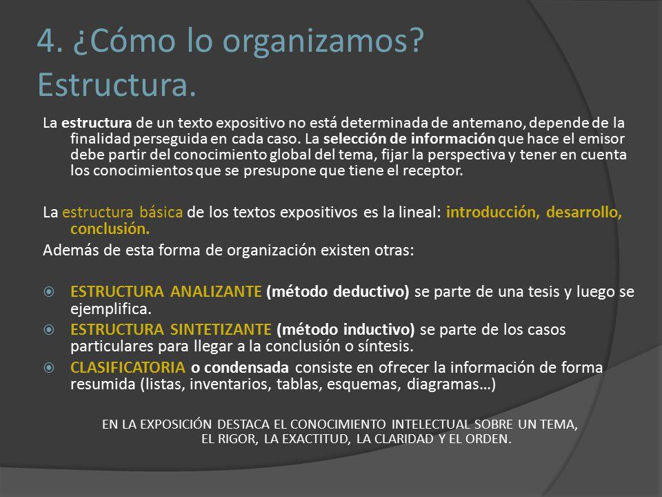 4. ¿Cómo lo organizamos Estructura.