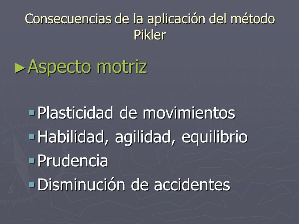 Consecuencias de la aplicación del método Pikler