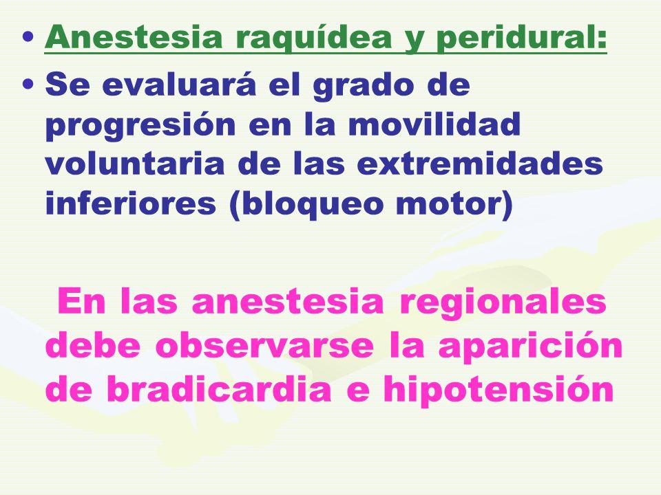 Anestesia raquídea y peridural: