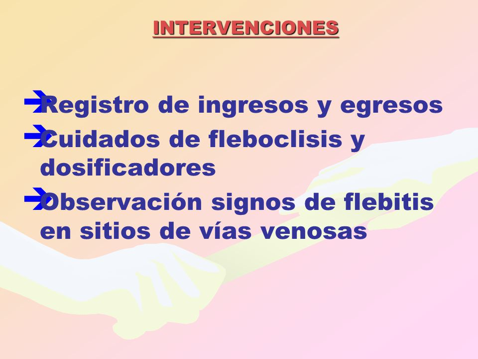 Registro de ingresos y egresos Cuidados de fleboclisis y dosificadores