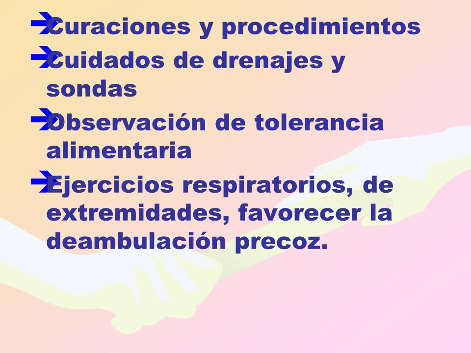 Curaciones y procedimientos