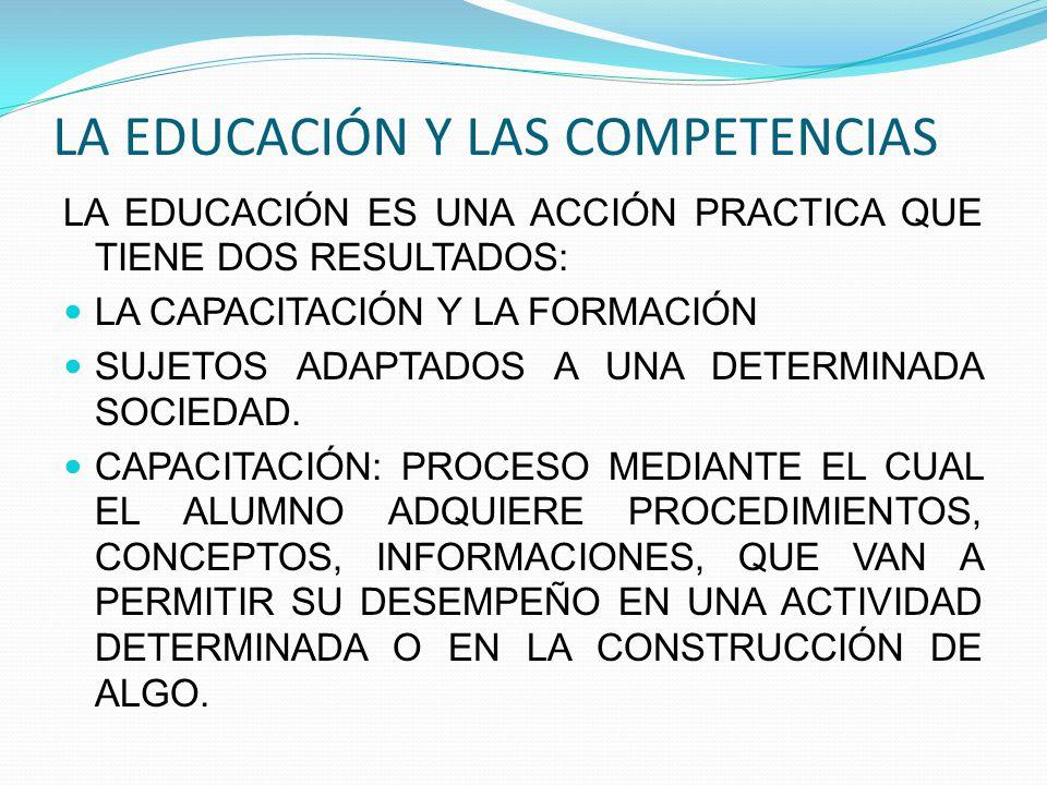 LA EDUCACIÓN Y LAS COMPETENCIAS