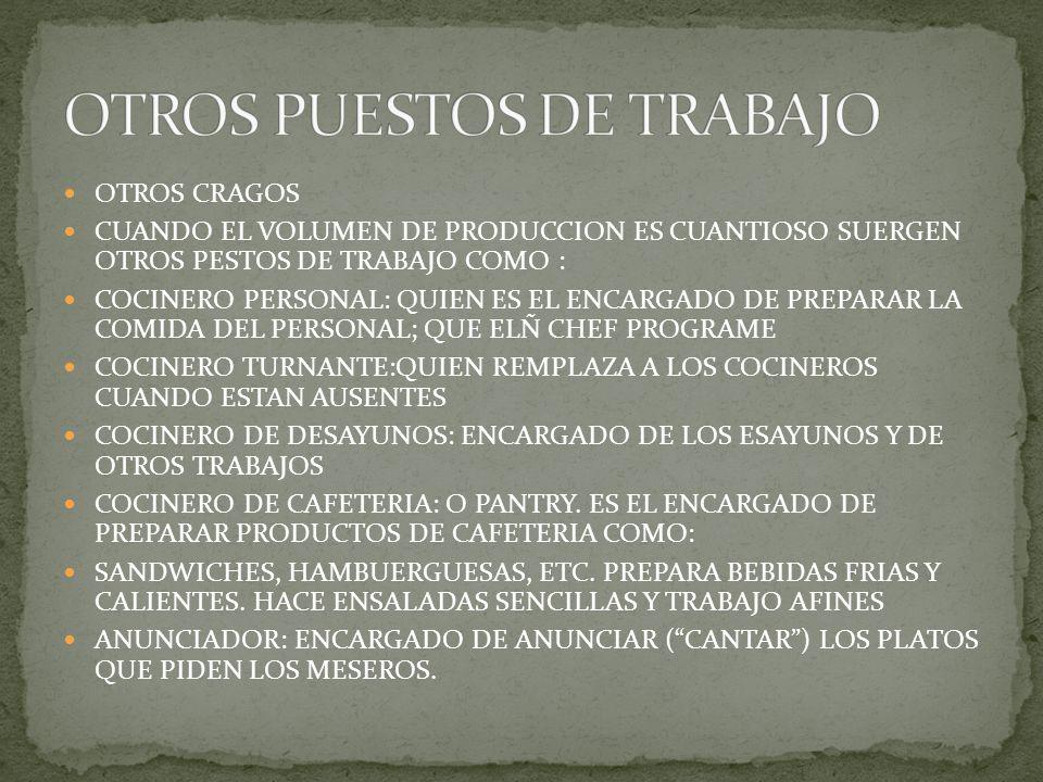 OTROS PUESTOS DE TRABAJO