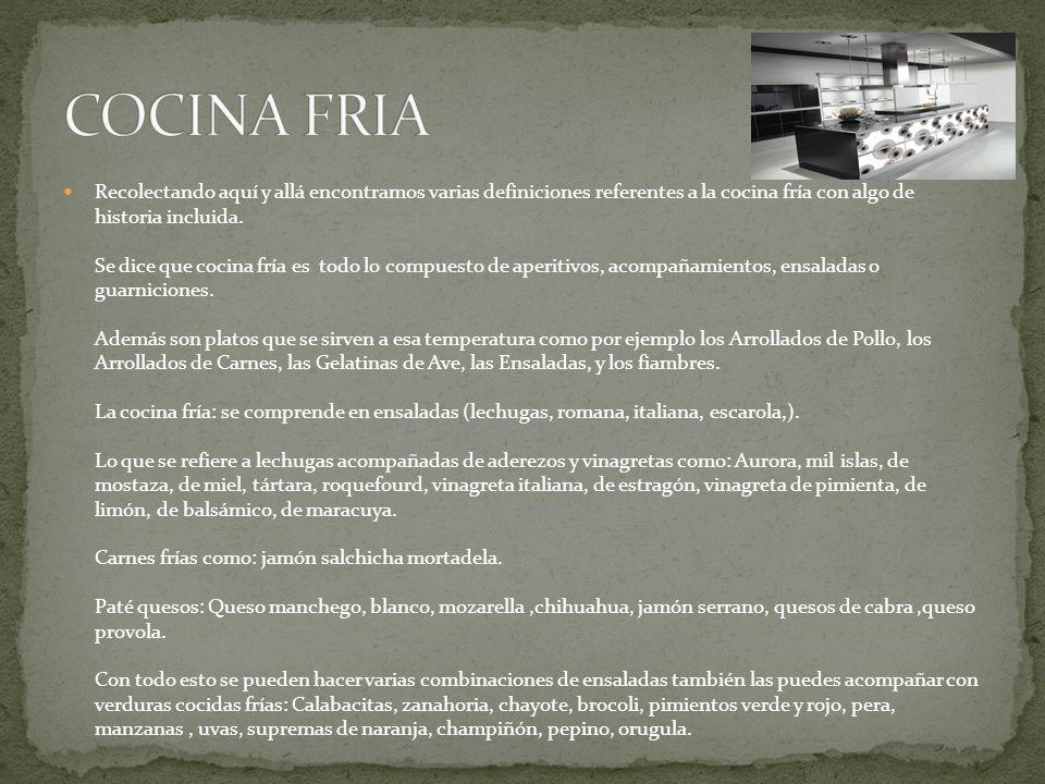COCINA FRIA