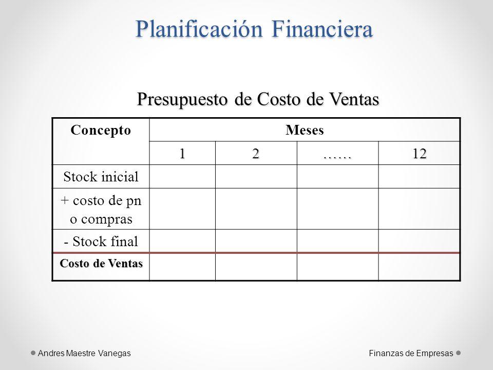 planificaci n financiera ppt descargar