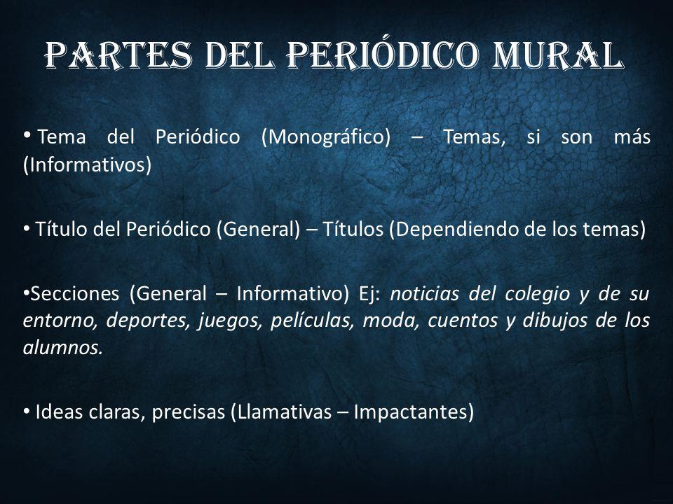 El peri dico mural iv n mauricio cediel suaza licenciatura for El mural pelicula online