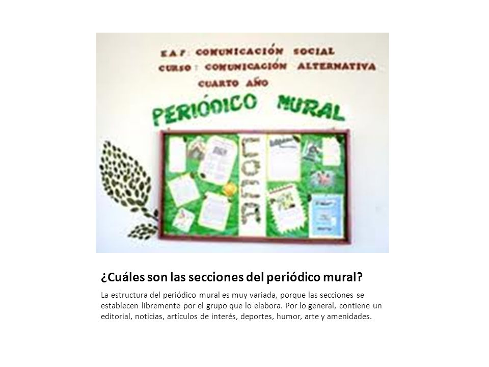 C mo usar los materiales ecol gicos y reciclables ppt for Editorial de un periodico mural