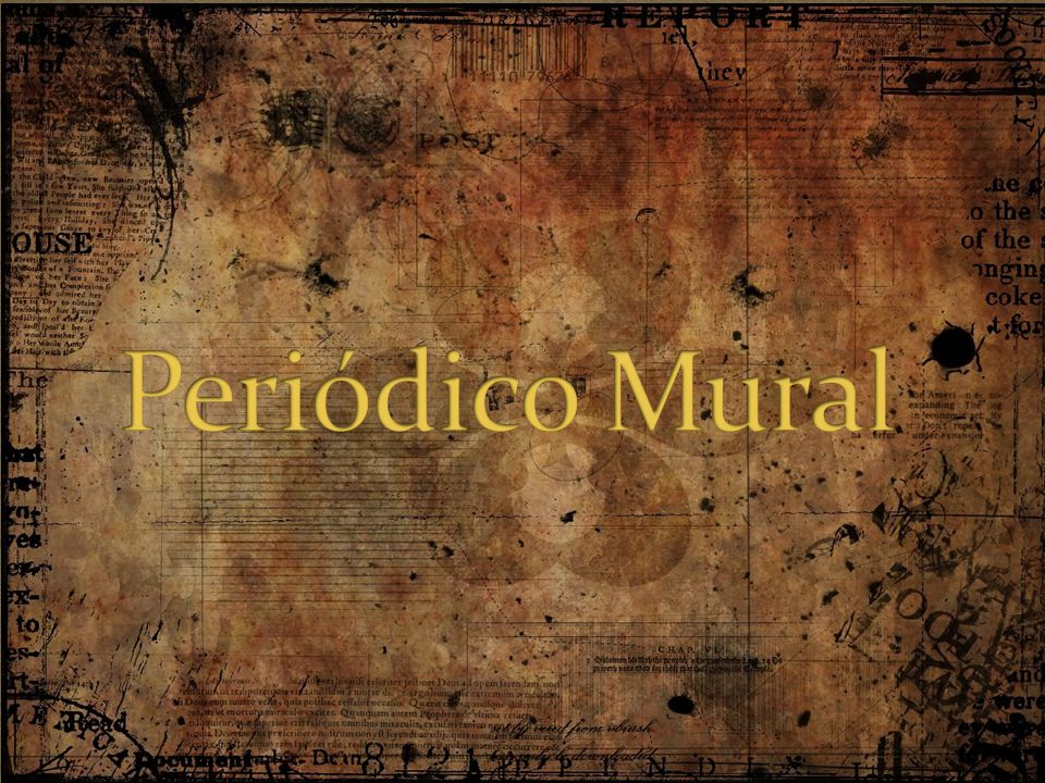 Peri dico mural ppt video online descargar for Estructura del periodico mural