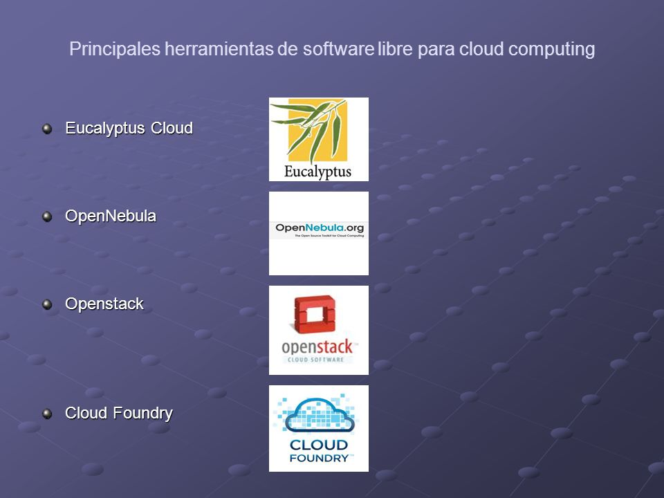 Principales herramientas de software libre para cloud computing