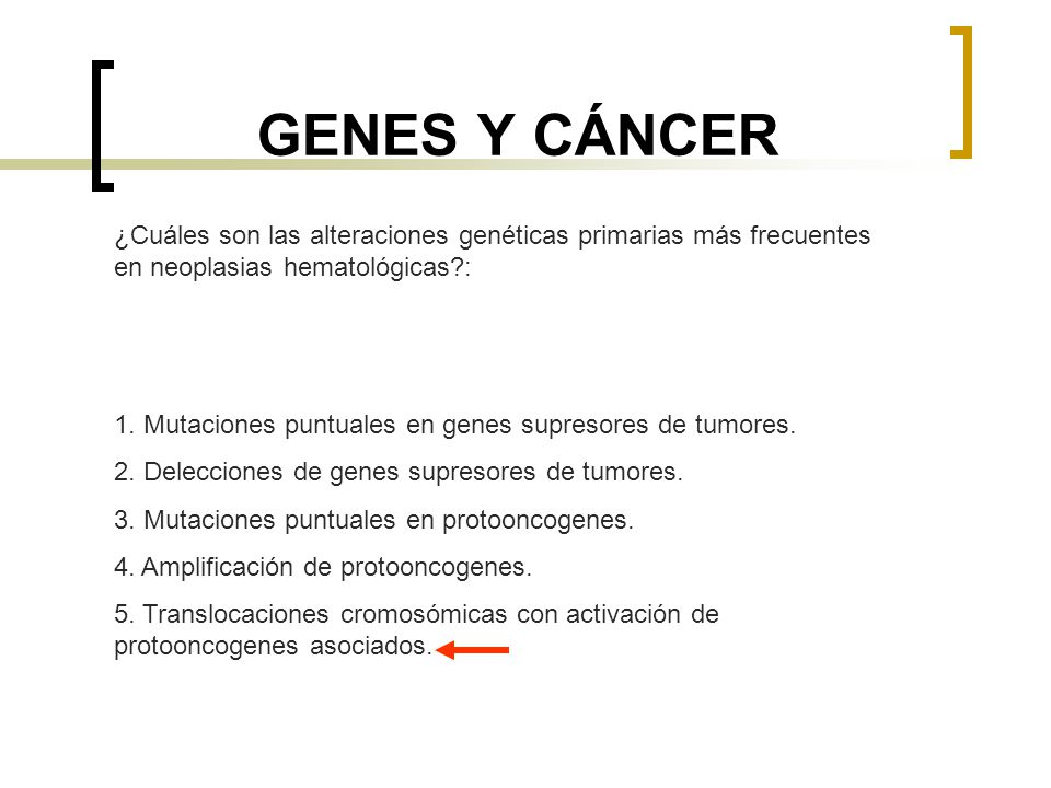 ONCOLOGÍA 1.GENES Y CÁNCER. - ppt descargar