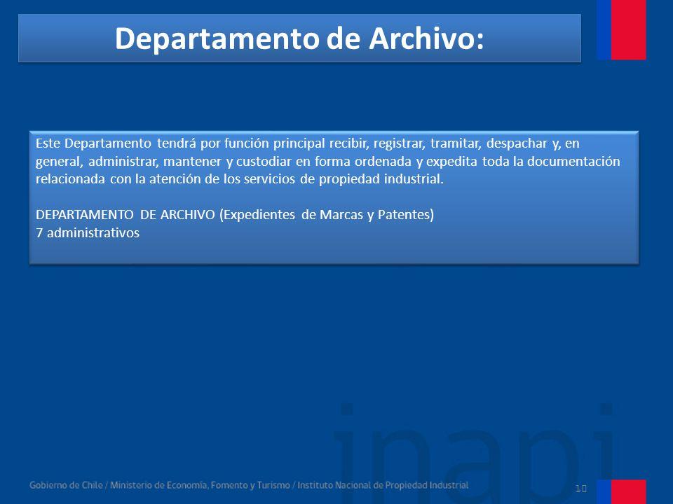 Departamento de Archivo: