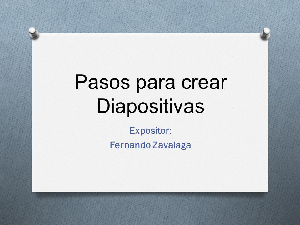 pasos para crear diapositivas