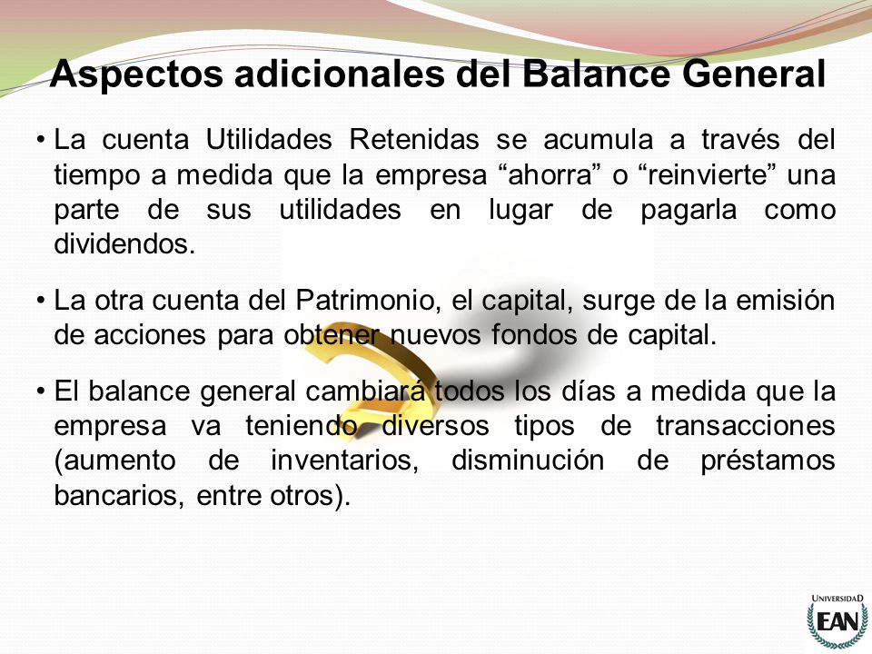 Aspectos adicionales del Balance General