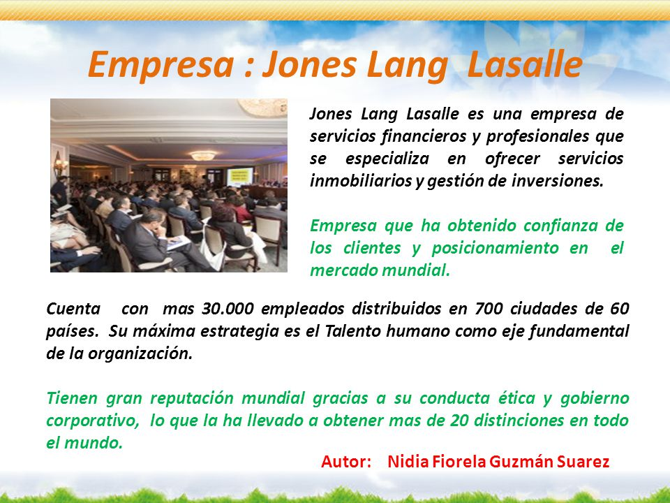 Empresa : Jones Lang Lasalle