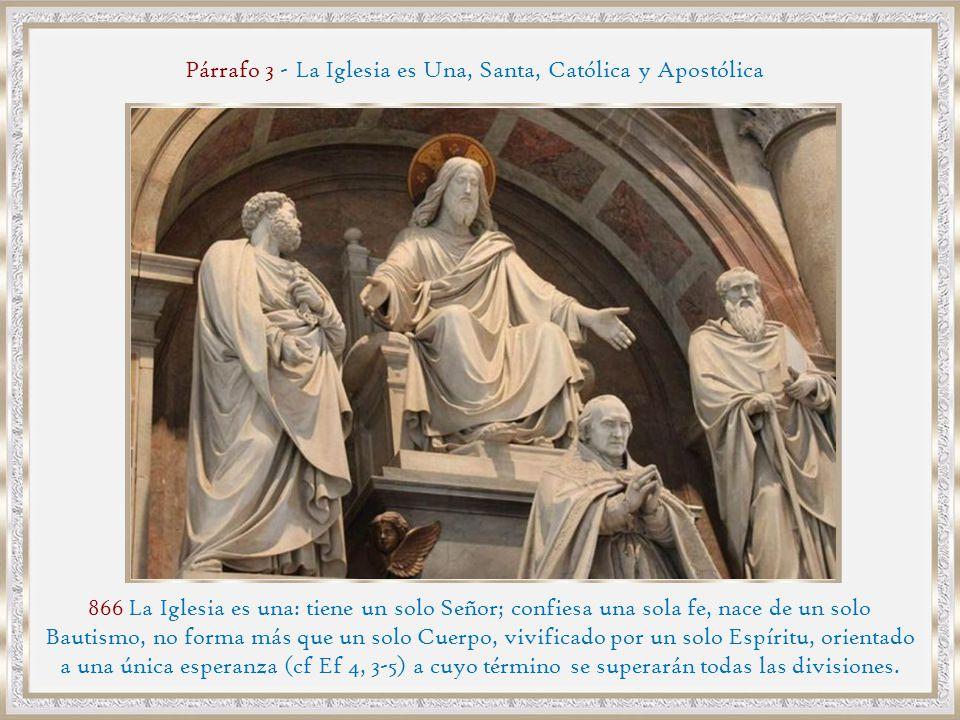 Párrafo 3 - La Iglesia es Una, Santa, Católica y Apostólica